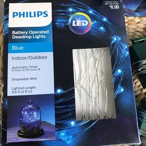 Phillips Dewdrop Blue Lights Battery Operated
